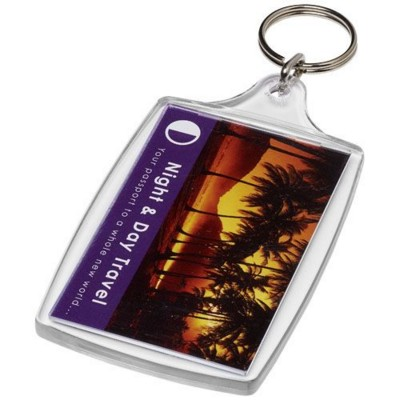 Picture of ORCA L4 LARGE KEYRING CHAIN in Transparent Clear Transparent