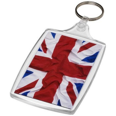 Picture of BAIJI L6 LARGE KEYRING CHAIN with Plastic Clip in Transparent Clear Transparent