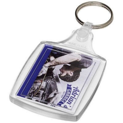 Picture of ZIA S6 CLASSIC KEYRING CHAIN with Plastic Clip in Transparent Clear Transparent