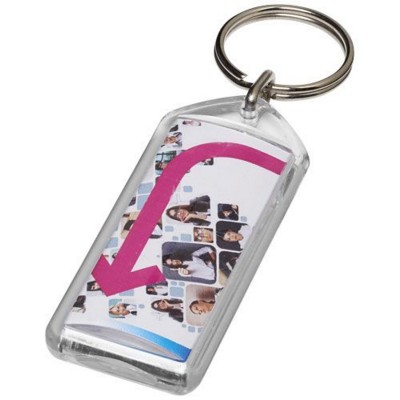 Picture of STEIN F1 REOPENABLE KEYRING CHAIN in Transparent Clear Transparent