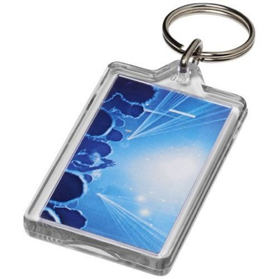 Picture of LUKEN G1 REOPENABLE KEYRING CHAIN in Transparent Clear Transparent