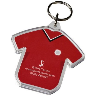 Picture of COMBO T-SHIRT-SHAPED KEYRING CHAIN in Transparent Clear Transparent