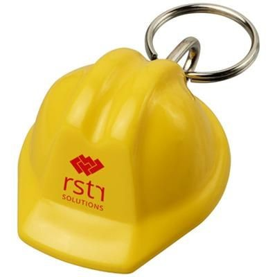 Picture of KOLT HARD-HAT-SHAPED KEYRING CHAIN in Yellow