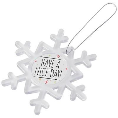 Picture of ELSSA SNOWFLAKE ORNAMENT in Transparent Clear Transparent