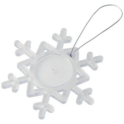 Picture of ELSSA SNOWFLAKE ORNAMENT in Frosted Clear-white Solid