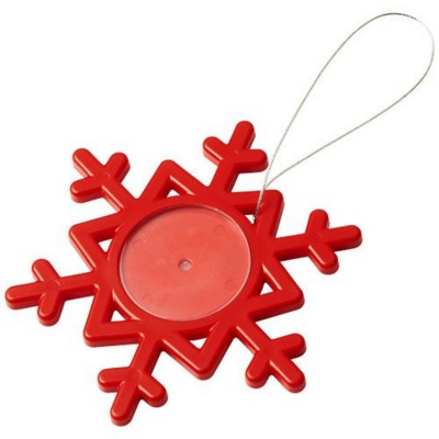 Picture of ELSSA SNOWFLAKE ORNAMENT in Red
