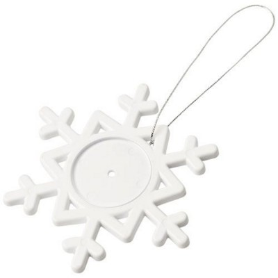 Picture of ELSSA SNOWFLAKE ORNAMENT in White Solid