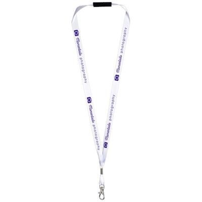Picture of ORO RIBBON LANYARD with Break-away Closure in White Solid