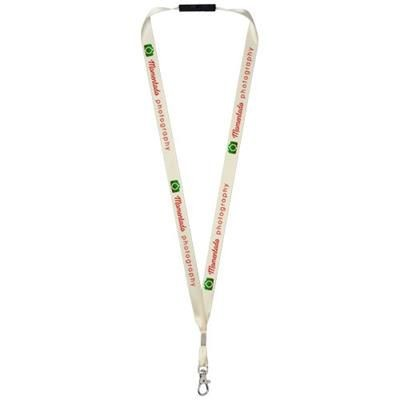 Picture of ORO RIBBON LANYARD with Break-away Closure in Cream