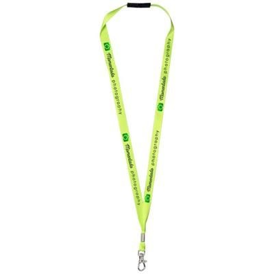 Picture of ORO RIBBON LANYARD with Break-away Closure in Lime