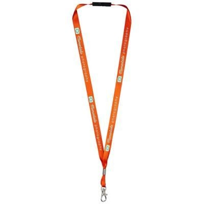 Picture of ORO RIBBON LANYARD with Break-away Closure in Orange