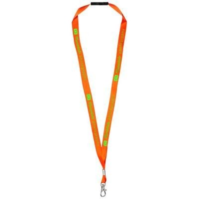 Picture of ORO RIBBON LANYARD with Break-away Closure in Neon Fluorescent Orange