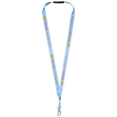 Picture of ORO RIBBON LANYARD with Break-away Closure in Mid Blue