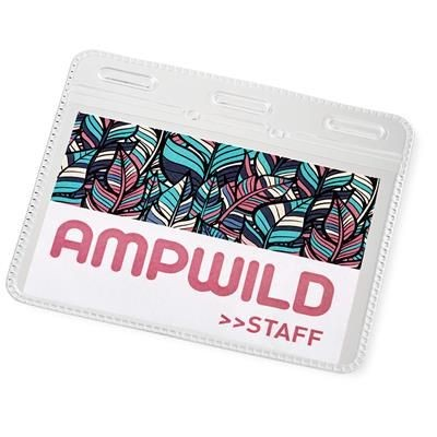 Picture of ARELL CLEAR TRANSPARENT PLASTIC ID POUCH in Transparent Clear Transparent