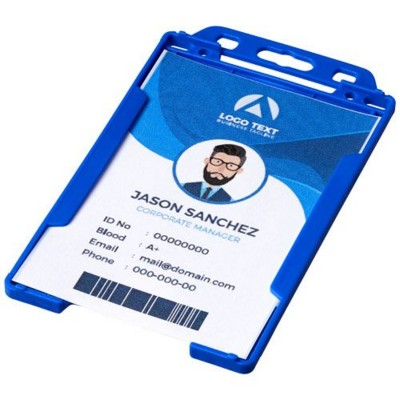Picture of PIERRE CLEAR TRANSPARENT BADGE HOLDER in Blue