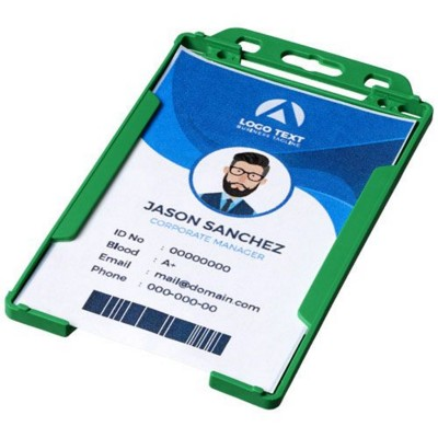 Picture of PIERRE CLEAR TRANSPARENT BADGE HOLDER in Green