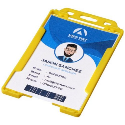 Picture of PIERRE CLEAR TRANSPARENT BADGE HOLDER in Yellow