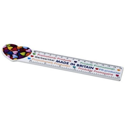 Picture of LOKI 15 CM HEART-SHAPED PLASTIC RULER in White Solid