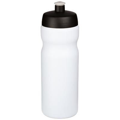 Picture of BASELINE® PLUS 650 ML SPORTS BOTTLE in White Solid-black Solid