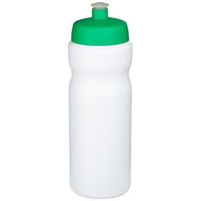 Picture of BASELINE® PLUS 650 ML SPORTS BOTTLE in White Solid-green