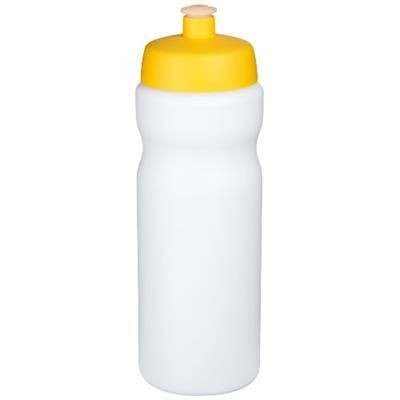 Picture of BASELINE® PLUS 650 ML SPORTS BOTTLE in White Solid-yellow