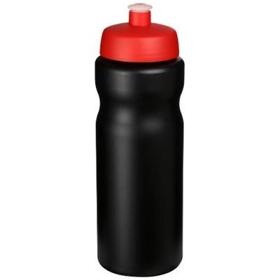 Picture of BASELINE® PLUS 650 ML SPORTS BOTTLE in Black Solid-red