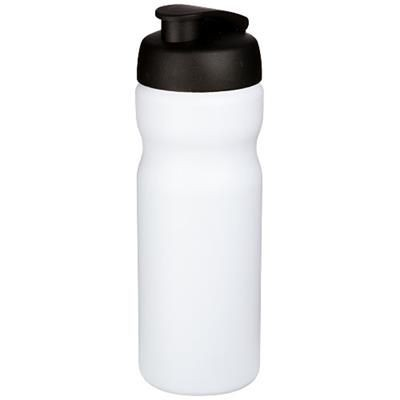 Picture of BASELINE® PLUS 650 ML FLIP LID SPORTS BOTTLE in White Solid-black Solid
