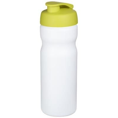 Picture of BASELINE® PLUS 650 ML FLIP LID SPORTS BOTTLE in White Solid-lime