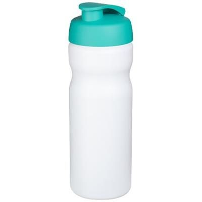Picture of BASELINE® PLUS 650 ML FLIP LID SPORTS BOTTLE in White Solid-aqua