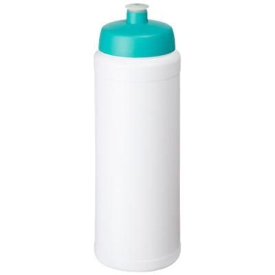 Picture of BASELINE® PLUS GRIP 750 ML SPORTS LID SPORTS BOTTLE in White Solid-aqua