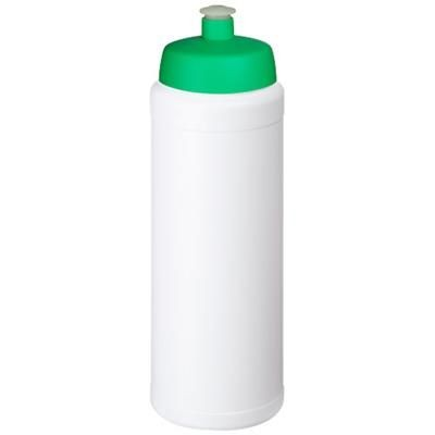 Picture of BASELINE® PLUS GRIP 750 ML SPORTS LID SPORTS BOTTLE in White Solid-green