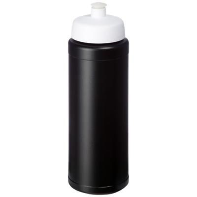 Picture of BASELINE® PLUS GRIP 750 ML SPORTS LID SPORTS BOTTLE in Black Solid-white Solid