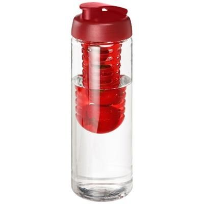 Picture of H2O VIBE 850 ML FLIP LID BOTTLE & INFUSER in Transparent-red
