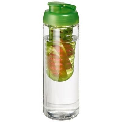 Picture of H2O VIBE 850 ML FLIP LID BOTTLE & INFUSER in Transparent-lime