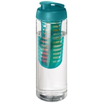 Picture of H2O VIBE 850 ML FLIP LID BOTTLE & INFUSER in Transparent-aqua Blue