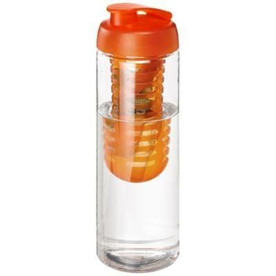 Picture of H2O VIBE 850 ML FLIP LID BOTTLE & INFUSER in Transparent-orange