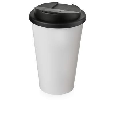 Picture of AMERICANO® 350 ML TUMBLER with Spill-proof Lid in White Solid & Black Solid