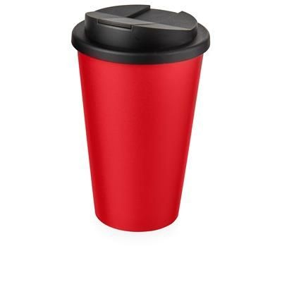 Picture of AMERICANO® 350 ML TUMBLER with Spill-proof Lid in Red & Black Solid