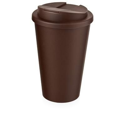 Picture of AMERICANO® 350 ML TUMBLER with Spill-proof Lid in Brown