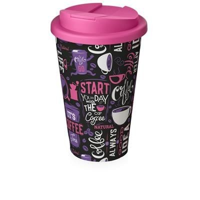 Picture of BRITE-AMERICANO® 350 ML TUMBLER with Spill-proof Lid in White Solid & Pink