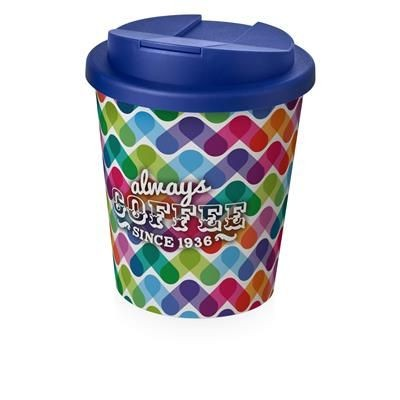 Picture of BRITE-AMERICANO ESPRESSO® 250 ML with Spill-proof Lid in White Solid & Blue