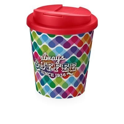Picture of BRITE-AMERICANO ESPRESSO® 250 ML with Spill-proof Lid in White Solid & Red