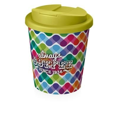 Picture of BRITE-AMERICANO ESPRESSO® 250 ML with Spill-proof Lid in White Solid & Lime
