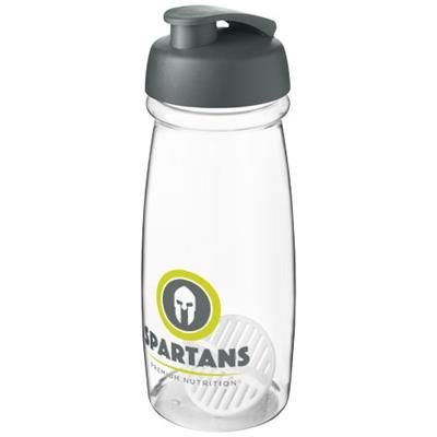 Picture of H2O ACTIVE PULSE 600 ML SHAKER BOTTLE in Grey & Clear Transparent