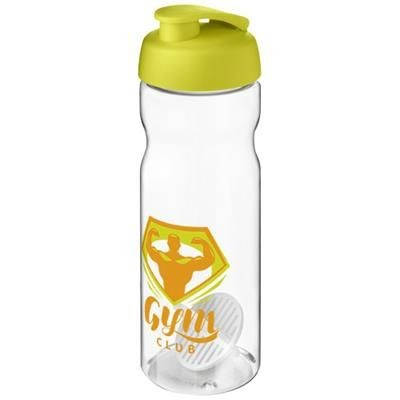 Picture of H2O ACTIVE BASE 650 ML SHAKER BOTTLE in Lime & Clear Transparent