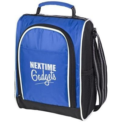Picture of SPORTY THERMAL INSULATED LUNCH COOL BAG in Blue-black Solid
