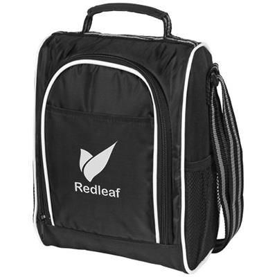 Picture of SPORTY THERMAL INSULATED LUNCH COOL BAG in Black Solid