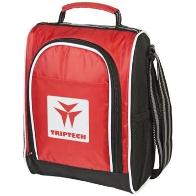 Picture of SPORTY THERMAL INSULATED LUNCH COOL BAG in Red-black Solid