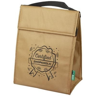 Picture of TRIANGULAR NON-WOVEN LUNCH COOL BAG in Natural