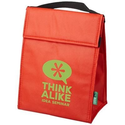 Picture of TRIANGULAR NON-WOVEN LUNCH COOL BAG in Red
